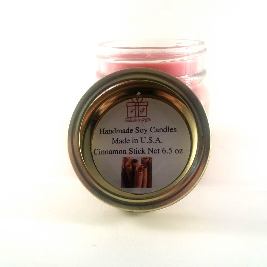 Cinnamon Stick Scented Soy Wax 6.5 oz Candle