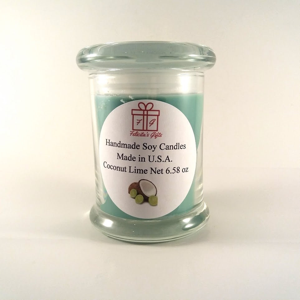 Coconut Lime Scented Soy Wax 6.5 oz Candle