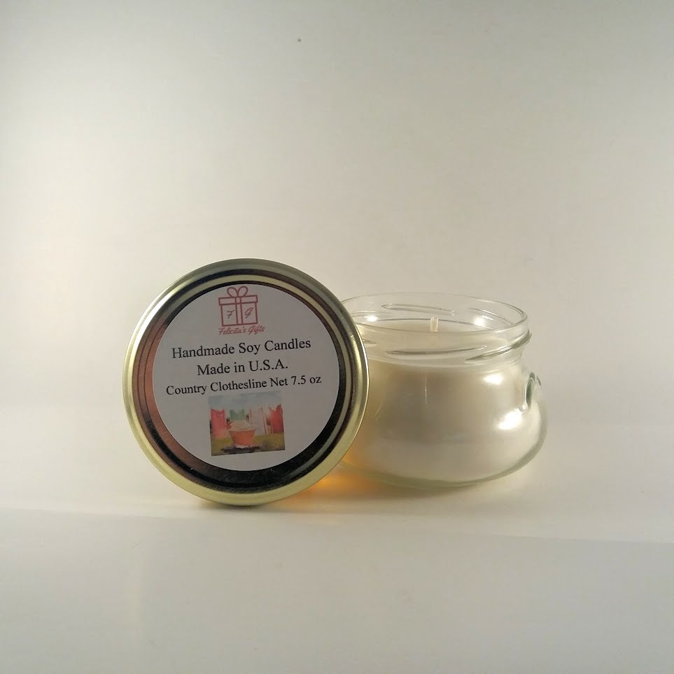 Country Clothesline Scented Soy Wax 7.5 oz Candle