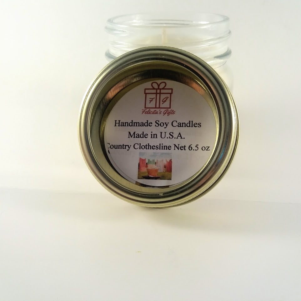 Country Clothesline Scented Soy Wax 6.5 oz Candle