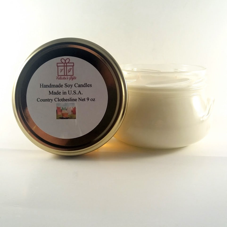 Country Clothesline Scented Soy Wax 9 oz Candle