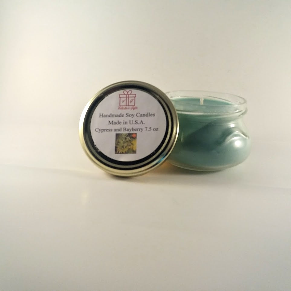 Cypress and Bayberry Scented Soy Wax 7.5 oz Candle