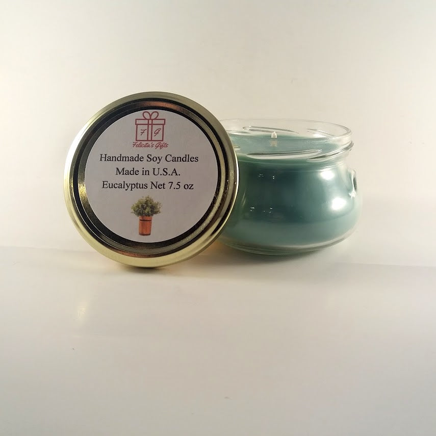 Eucalyptus Scented Soy Wax 7.5 oz Candle