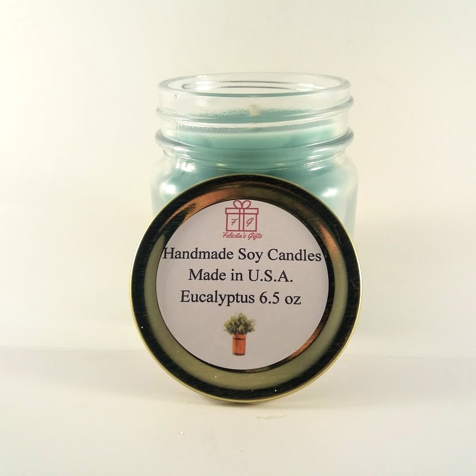 Eucalyptus Scented Soy Wax 6.5 oz Candle