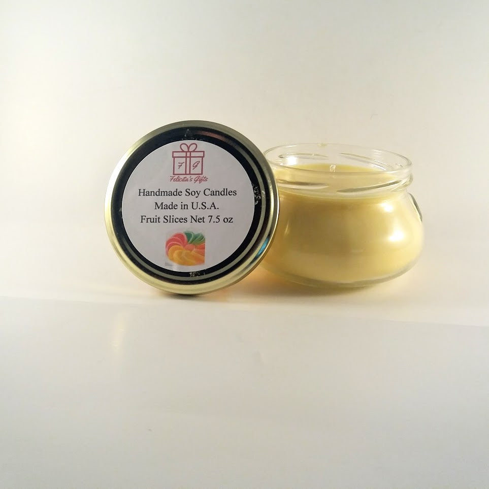Fruit Slices Scented Soy Wax 7.5 oz Candle