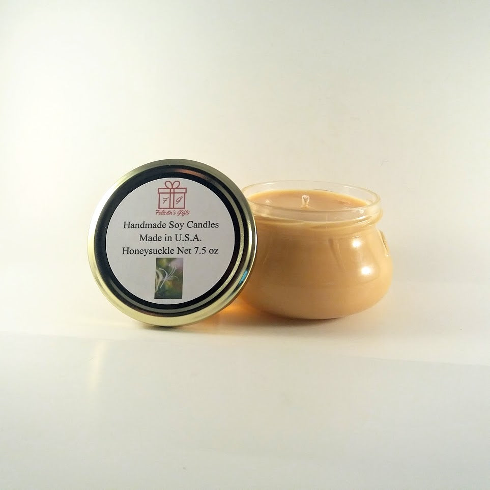 Honeysuckle Scented Soy Wax 7.5 oz Candle