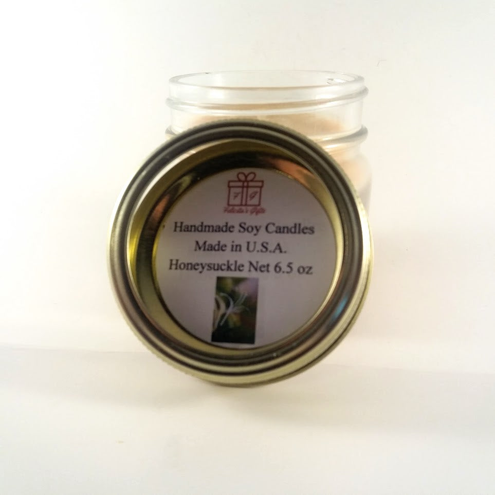 Honeysuckle Scented Soy Wax 6.5 oz Candle