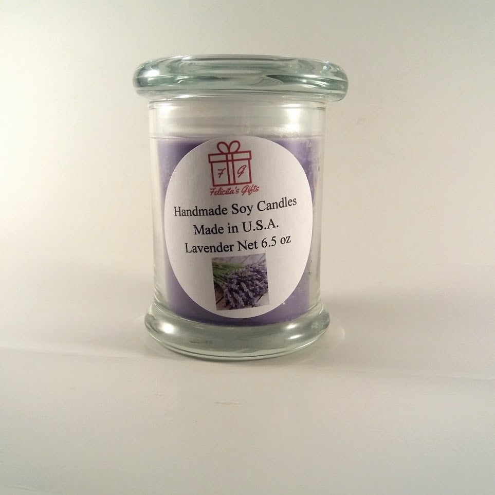 Lavender Scented Soy Wax 6.5 oz  Candle