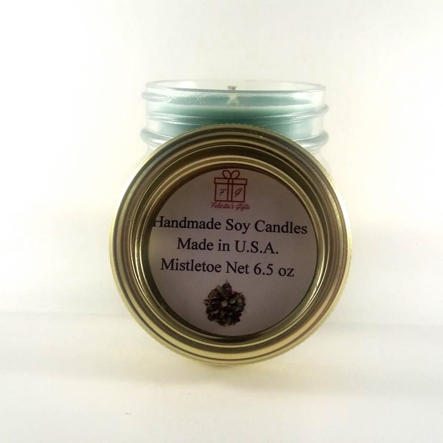 Mistletoe Scented Soy Wax 6.5 oz Candle