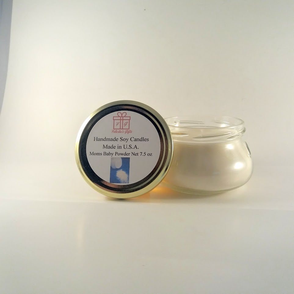 Moms Baby Powder Scented Soy Wax 7.5 oz Candle