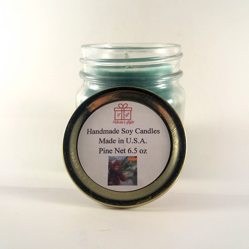 Fresh Pine Scented Soy Wax 6.5 oz Candle