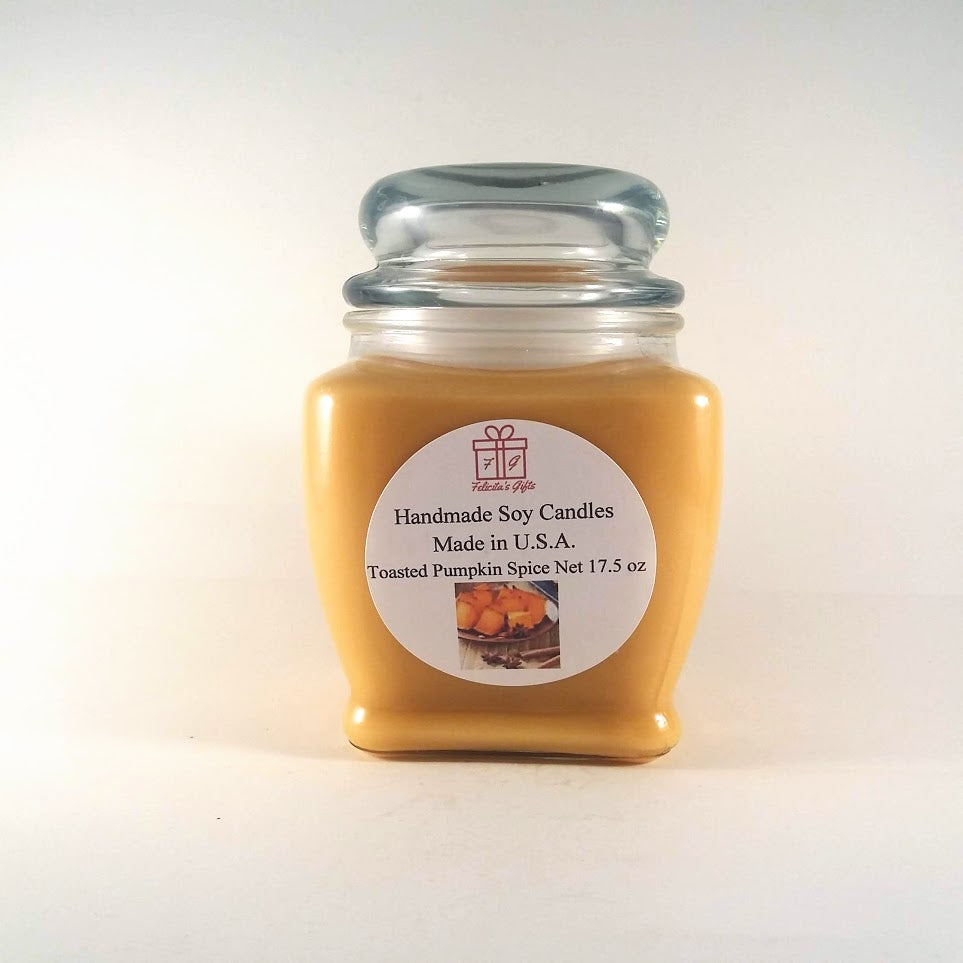 Toasted Pumpkin Spice Scented Soy Wax 17.5 oz Candles