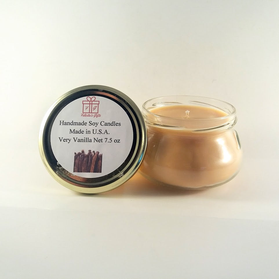 Very Vanilla Scented Soy Wax 7.5 oz Candle