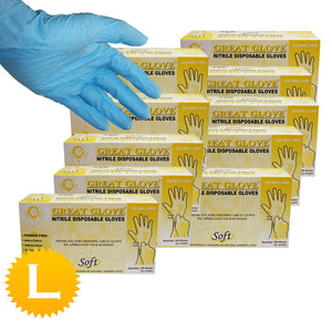 Nitrile Powder Free Soft Gloves - Size Large - 1000 Gloves