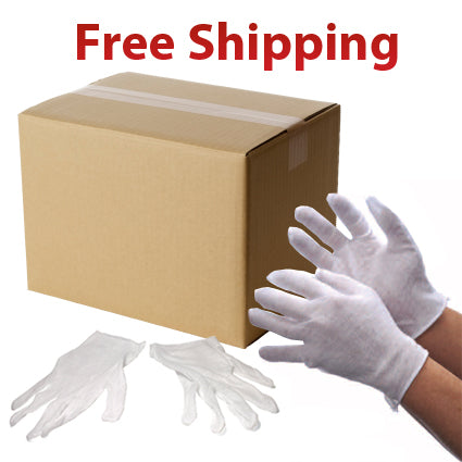 1200 Pairs Light Weight White Inspection Cotton Lisle Gloves