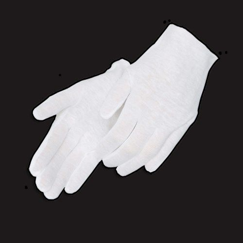 36 Pairs Light Weight White Inspection Cotton Lisle Gloves