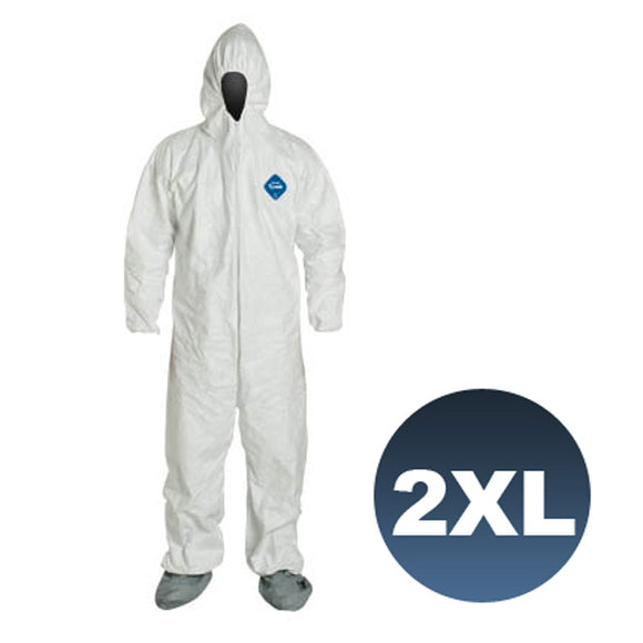 TY122S / Size 2XL - Dupont Tyvek Coverall Bunny Suite with Hood and boots