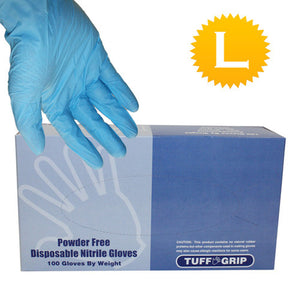 Nitrile Powder Free Gloves - Size Large - 100 gloves