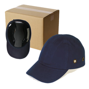 20 Blue Baseball Bump Caps - Lightweight Safety hard hat head protection Caps