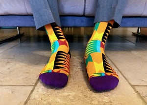 kente socks boga model