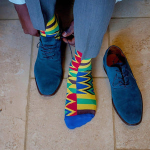 African Kente socks kubolor