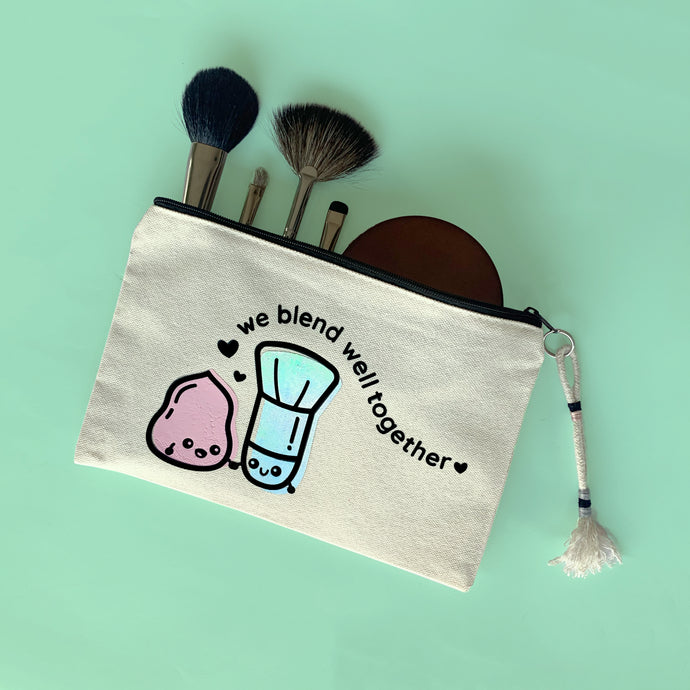 WE BLEND WELL TOGETHER MAKEUP BAG