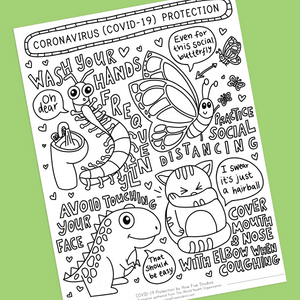 COVID-19 PROTECTION COLORING SHEET