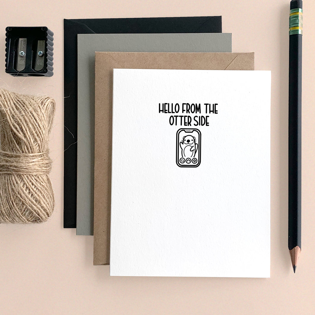 HELLO FROM THE OTTER SIDE CARD - Free Shipping