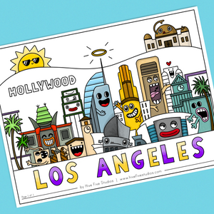 LOS ANGELES CITY COLORING SHEET