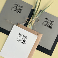 Load image into Gallery viewer, MINT TO BEE WEDDING CARD - Free Shipping
