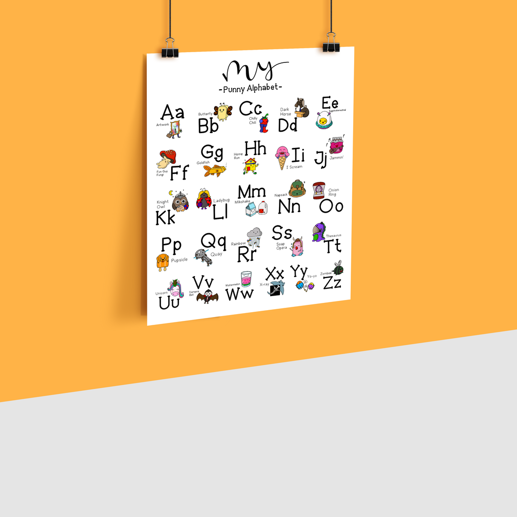 PERSONALIZED PUNNY ALPHABET POSTER