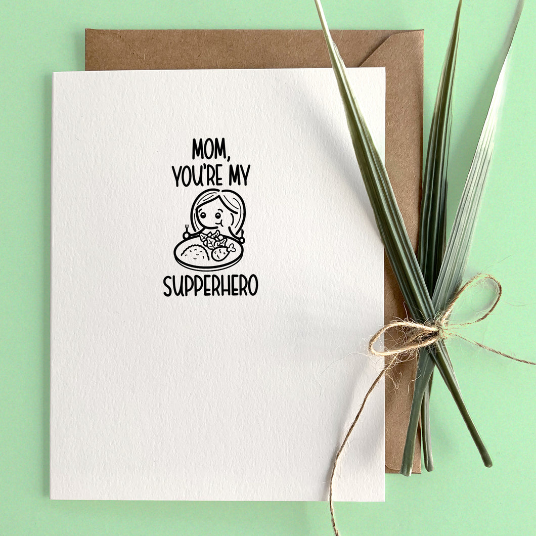 MOM/DAD, YOU'RE MY SUPPERHERO CARD - Free Shipping