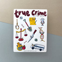 Load image into Gallery viewer, TRUE CRIME STICKER SHEET - Free Shipping