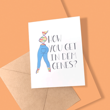 Load image into Gallery viewer, HOW YOU GET IN DEM GENES PERSONALIZED CARD - Free Shipping