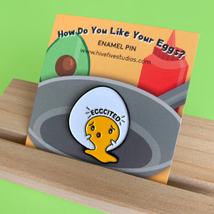 EGGCITED PIN