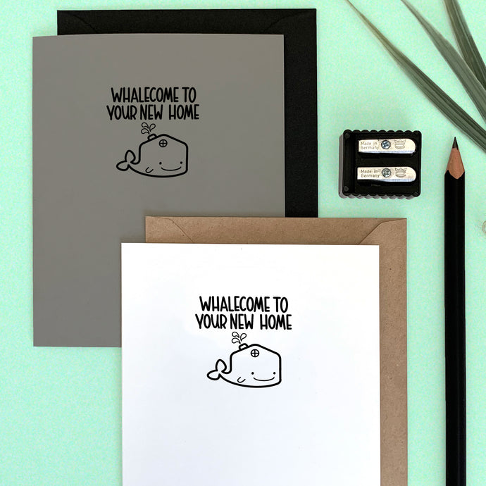 WHALECOME TO YOUR NEW HOME CARD - Free Shipping