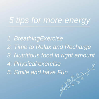 5 tips for more energy