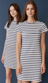 DEAR COLLECTIVE HARLEY STRIPED BODYCON DRESS - MATERNITY / NURSING