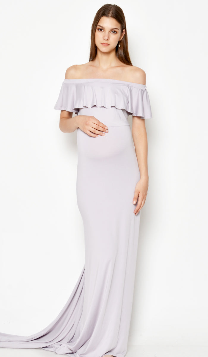 DEAR COLLECTIVE ISABEL MULTI WEAR MATERNITY MAXI DRESS LILAC GREY