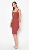 DEAR COLLECTIVE VELDA KNIT TANK DRESS PUCE - MATERNITY / NURSING