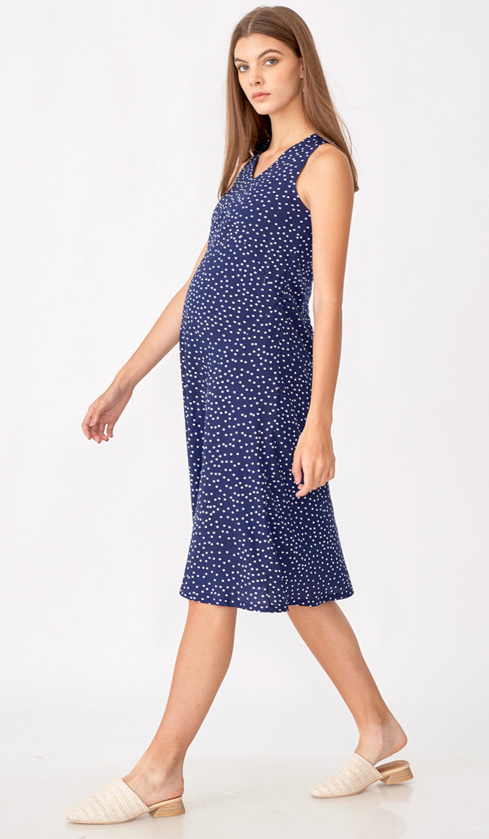ALYSSA MIDI DRESS POLKADOT