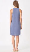 ELLA SPLIT HEM DRESS BLUE
