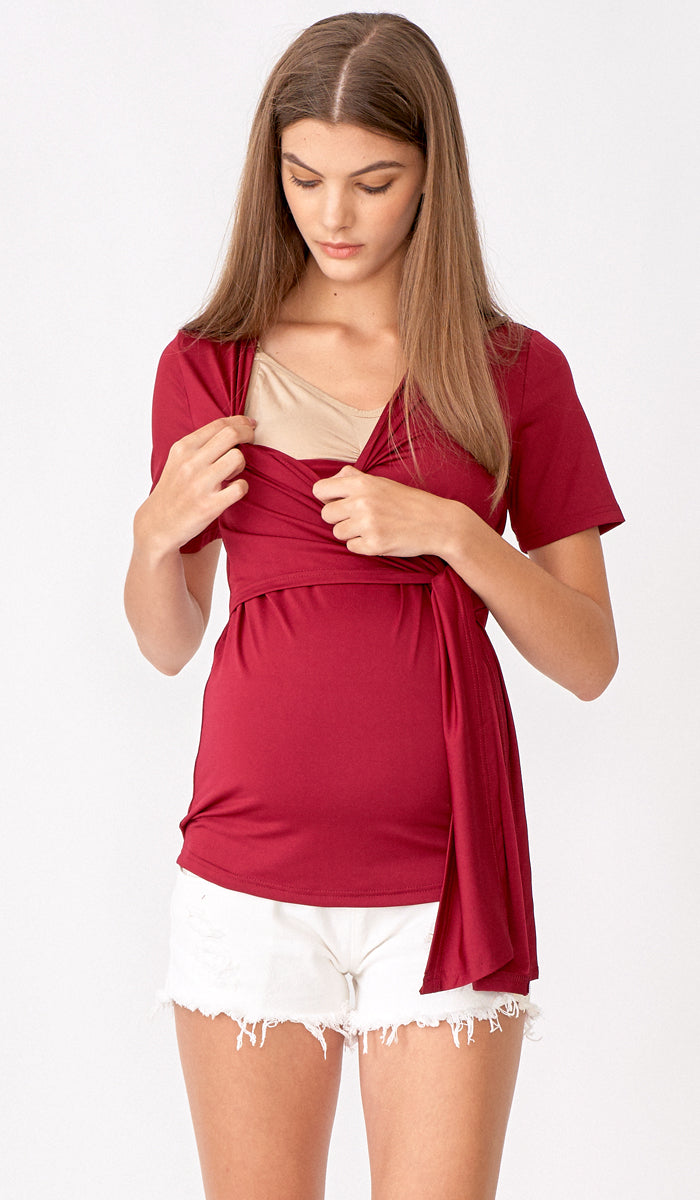 SALE - JULIA WRAP TOP WINE