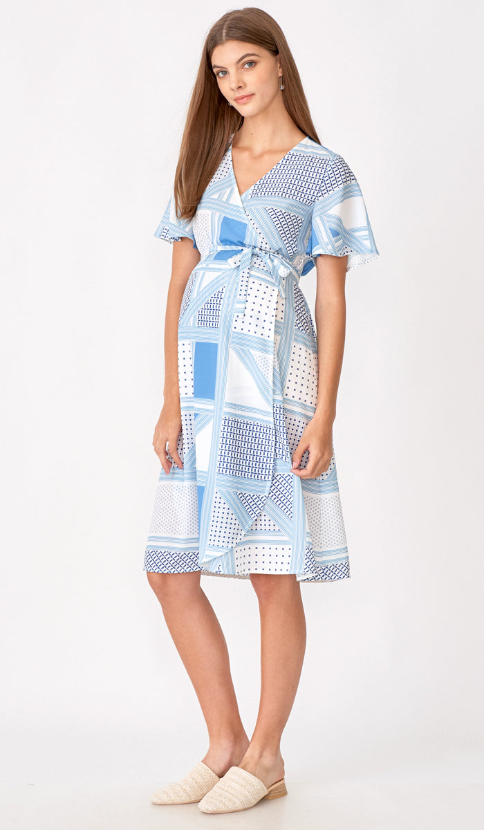 LAUREN WRAP DRESS CHECKS