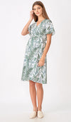 LAUREN WRAP DRESS FERN