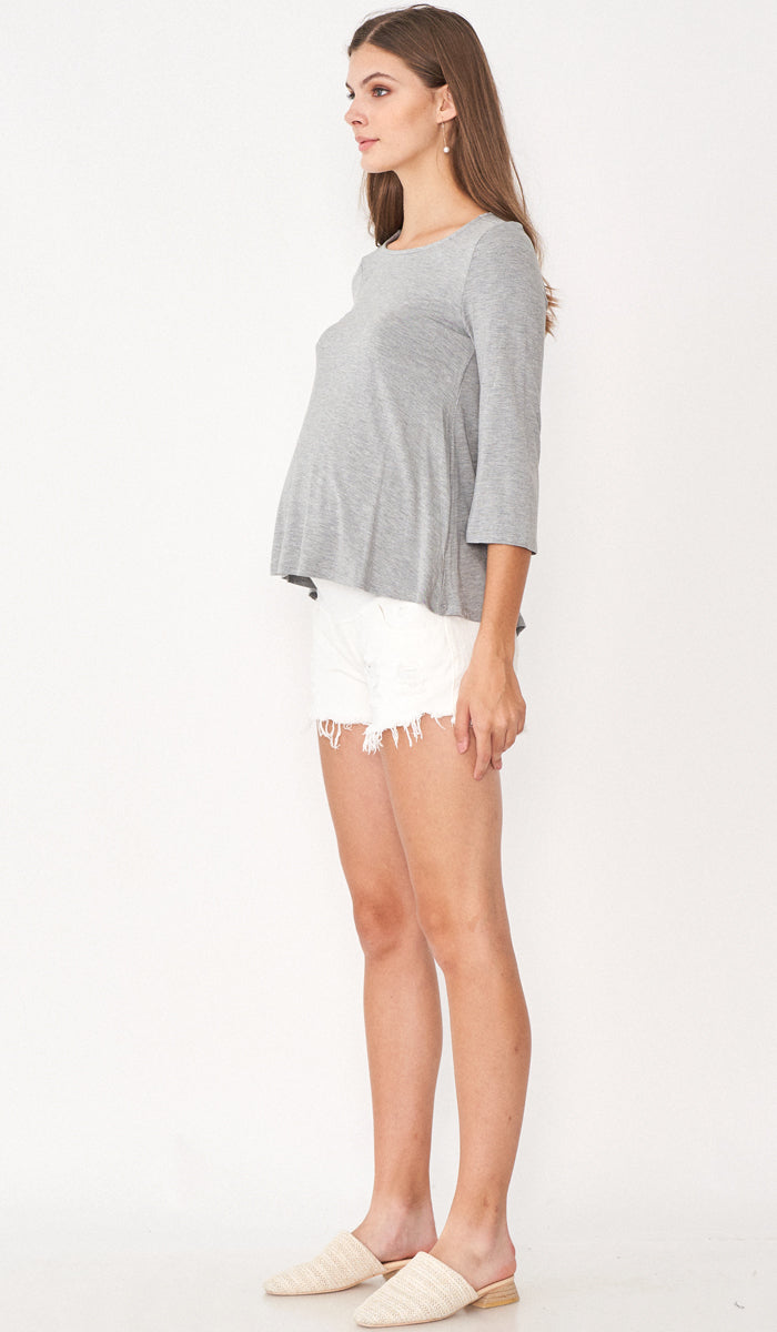 SALE - DESI FLARE TOP GREY