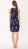 HILDA FLORAL DRESS NAVY W SASH