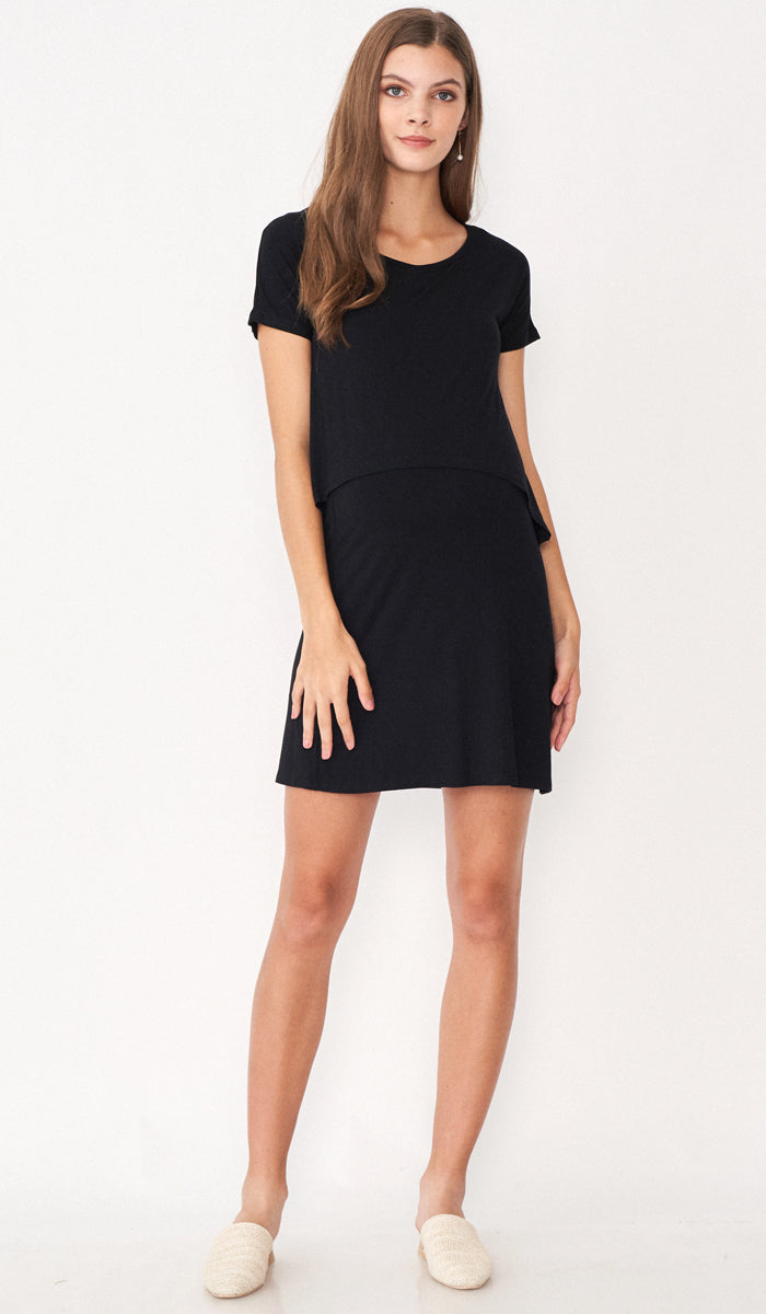 KORA LAYERED NURSING DRESS