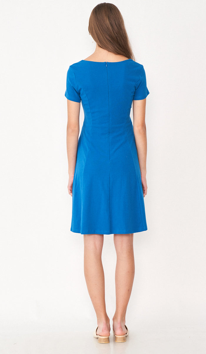 SALE - MARA NURSING SKATER DRESS TEAL