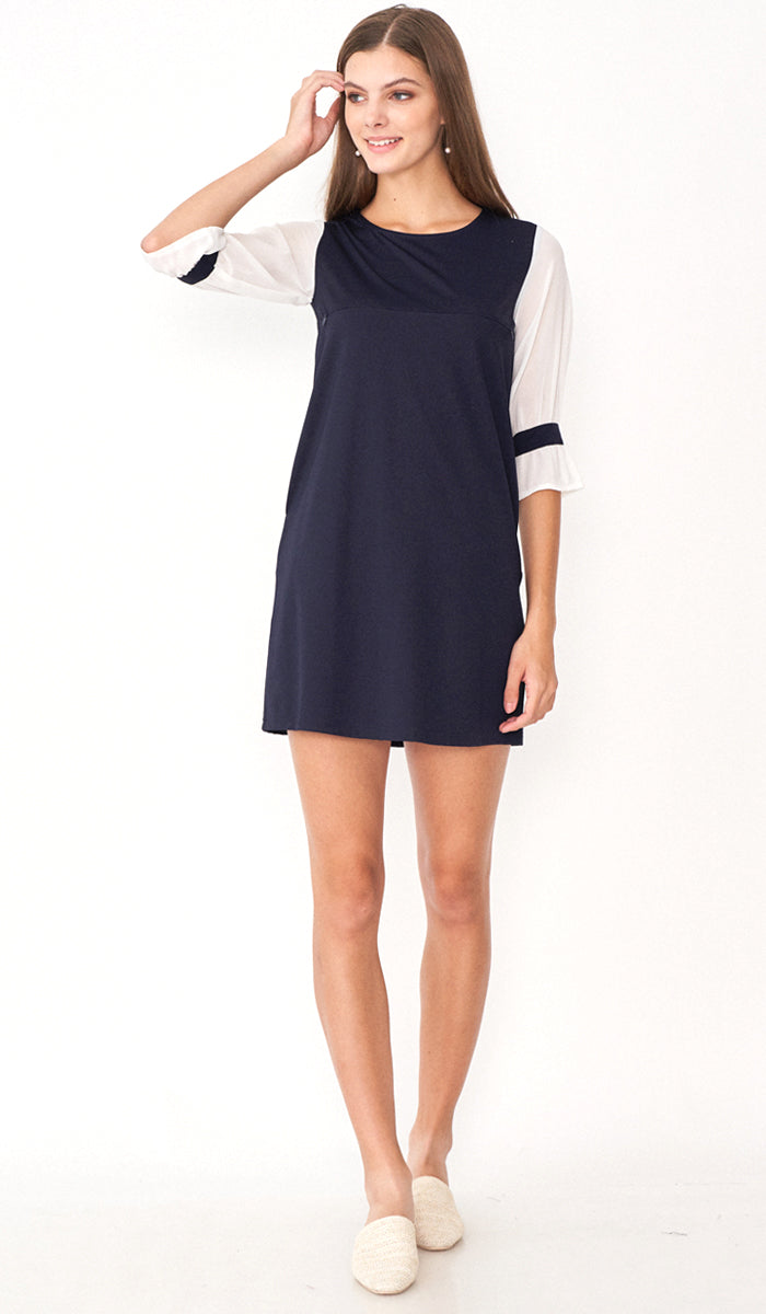VERON BELL SLEEVE DRESS